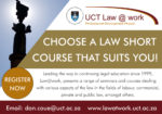 UCT Law@work – Faculty of Law